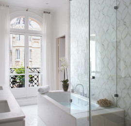 Stunning White Marble Bathroom